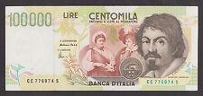 ITALY  100000 Lire  6 5 1994  AU  P117b  CARAVAGGIO  Sign. Fazio & Amici