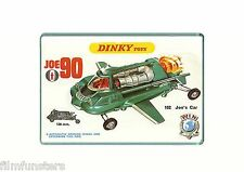60's NOSTALGIA -  JOE 90( JOES CAR) DINKY TOYS ADVERT - JUMBO FRIDGE MAGNET