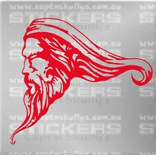 WIZARD HEAD DECAL 180mm x 160mm Captn Skullys Stickers Online MPN 1268