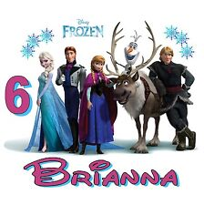 NEW PERSONALIZED DISNEY FROZEN MOVIE BIRTHDAY T SHIRT ADD NAME AND AGE #2