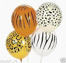 25 Zoo Safari JUNGLE ANIMAL PRINT Party Decorations LATEX BALLOONS ~ NEW