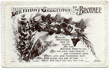 Vintage Postcard 'BIRTHDAY GREETINGS TO MY BROTHER'     (A4)