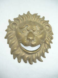 Mask Brass Burnished Solid For Fountain Head by Lion