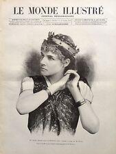 """LE MONDE ILLUSTRE 1890 N 1751 ROSE CERON, ROLE DE BRUNEHILD,dans """"SIGURD"""", OPERA"""
