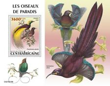 More details for central african rep birds of paradise on stamps 2021 mnh birds-of-paradise 1v ss