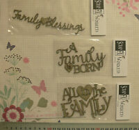 CHIPBOARD DieCut - FAMILY Born - All in the Family - 3 Style Choice Scrap FX B