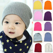 Newborn Baby Knitted Crochet Beanie Hat Boy Girl Winter Warm Kids Cap Toddler