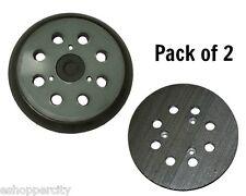 """2X Pad For Makita 743081-8 Hitachi 324-209 5"""" 8 Hole Orbit Sander Hook & Loop"""
