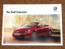 2012 VW GOLF CABRIOLET Sales Brochure - GTI GT SE S BlueMotion - Mint Condition