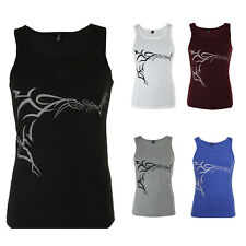 Mens Casual Funky Gym Training Plain Graphic Vest/ TShirt/ Tank Top S-XL COLOURS