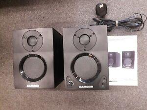 Samson MediaOne BT3 Active Studio Monitors with Bluetooth, used, with manual