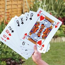 Parkland Giant A3 Large 52 Playing Cards 37cm Full Deck Magic Garden Outdoor