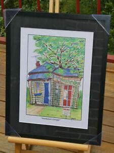 """Framed Real Estate Cartoon Print """"Handyman's Delight"""""""