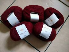 125g ROWAN ALPACA CLASSIC 57% alpaca wool YARN – 121 MAROON red marl - DK 4 PLY