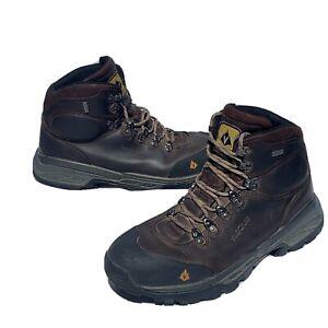 Vasque Boots 7170 Bitterroot GTX Hiking Brown Leather Vibram Men US Size 13 N