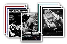 JOHNNY WINTER - 10 PROMOCIONAL Pósters - Coleccionable Tarjeta Postal Juego #1