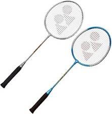 Yonex GR-303 Silver, Blue Strung Badminton Racquet  (Pack of: 2, 95 g)
