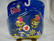BNIB LITTLEST PET SHOP MONKEYS WITH HATS #834 & #835