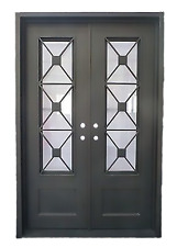 "Stunning Wrought Iron Entry Doors with glass from Monarch Custom Doors 72"" X 96"""