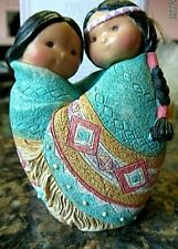 Enesco Friends Of The Feather ' Love For Many Moons' -Native Couple