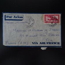 INDOCHINE LETTRE COVER CAD HAI PHONG TONKIN 1938 -> NICE