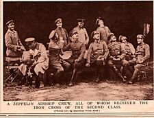 1914 ROTOGRAVURE  ZEPPELIN AIRSHIP CREW IRON CROSS