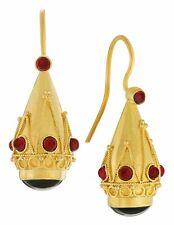 Crown Of Pompeii Onyx and Garnet Earrings: Museum of Jewelry