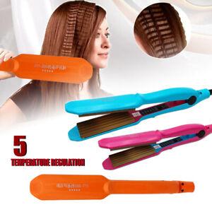 Ceramic Titanium Hair Crimper Crimping Perm Slipnt Waver Curler Wet Curling Iron