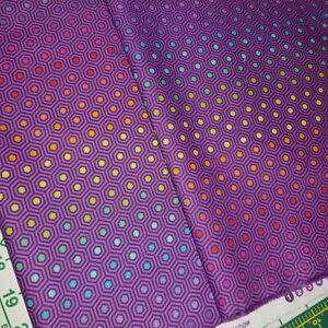 2 FQ's TULA PINK Hexy Rainbow Purple AWESOME Colors! OR 1/2 yard FREE SPIRIT