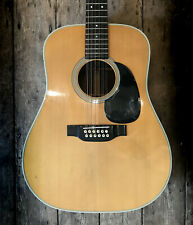 1974 MARTIN D28 12 STRING ACOUSTIC IN NATURAL FINISH WITH A HARD SHELL CASE