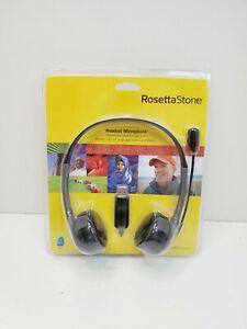 Rosetta Stone USB Headset Microphone Headphones Language Learn☆ NEW ☆SEALED☆