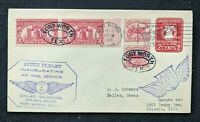 1928 Fort Worth Texas First Flight Airmail Cover to Chicago Illinois