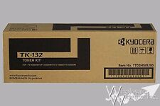 New Genuine Kyocera Mita TK-132 OEM Black Toner Cartridge TK132 FS1028 FS1128