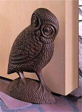 ARTISTIC CHARMING OWL CAST IRON DOOR STOPPER ** NIB