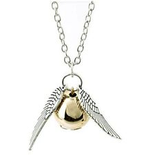 Harry Potter Necklace, Golden Snitch wing Necklace,deathly hallows USA Fast Ship