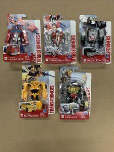 Lot of 5 New Transformers Optimus Prime Bumblebee Megatron Grimlock Starscream