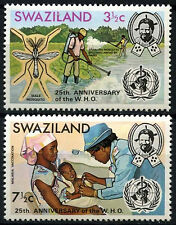 Swaziland 1973 SG#198-9, 25th Anniv Of WHO MNH Set #D49108
