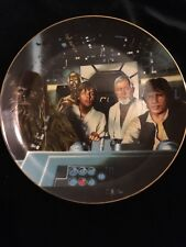 """Star Wars """" Crew In Cockpit"""" Collector'S Plate"""