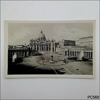 Roma Piazza e Basilica S. Pietro Postcard (P560)
