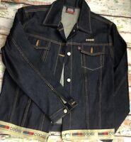 COOGI Denim Jacket Men's  Dark Wash Cotton Buttoned Classic Size XL