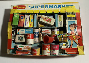 "Vintage Miniature Antique 1959 ""My Merry Supermarket"" Play Set Store #6 (B)"