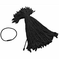 Tupalizy Black Cotton Gift Clothing Price Tag String Hanging Rope Snap Lock Pin