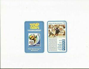 MARADONA ~ 2 CARD SET ~ GOAL OF THE CENTURY & THE HAND OF GOD ~ TOP TRUMPS 2010