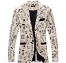 New Men's Slim Fit Stylish Smart Casual Contrast Blazer Coat Suit jacket floral