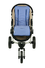 Universal Reversible Pure Cotton Pram Liner by Keep Me Cosy™ - Classic Blue Spot