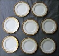"Antique Minton Tiffany New York Ornate Wide Gold Trim 6"" Dessert Plates H 2863"