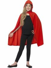 Childrens Hooded Cape ~ Red ~ Small /  Medium