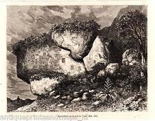Pandi Colombia Antique print ancient writing rocks Cundinamarca 1880