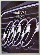 AUDI V8L Office (Langversion) - Prospekt Brochure - 1990 - 8 Seiten