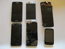 Lot of 6 Scrap Cell Phones Samsung, Iphone 6s, Motorola, Umidigi, HTC